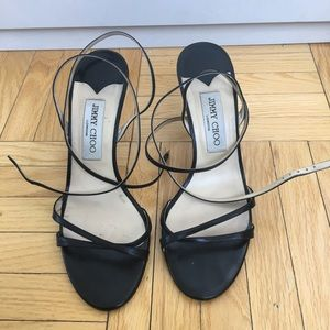Black Jimmy Choo strappy heels